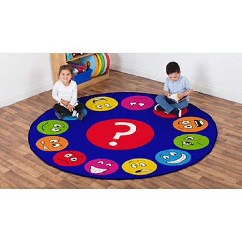 Emotions Faces Interactive Circular Carpet