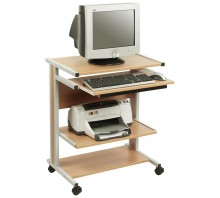 Mobile PC Workstation with Mouse Shelf