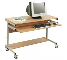 Adjustable Height Mobile Computer Trolley CF7066