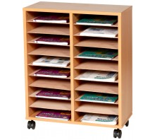 20 Shelf Paper Storage Trolley