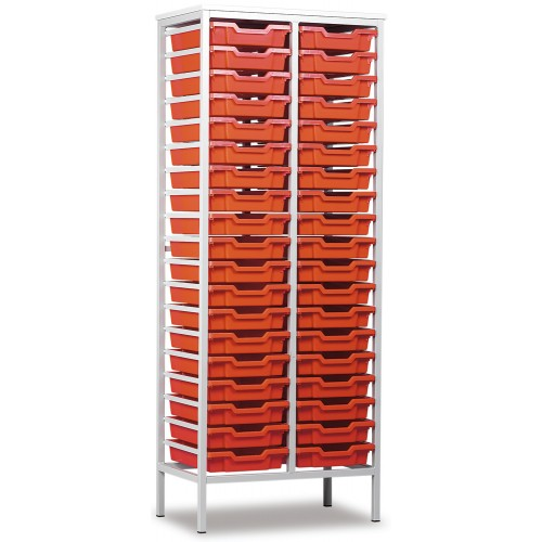 38 Slot Metal Frame Tray Storage Unit