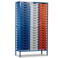 57 Slot Metal Frame Tray Storage Unit