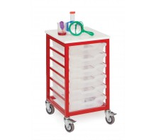 Mobile 6 Slot Metal Frame Tray Storage Unit