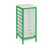 8 Slot Metal Frame Tray Storage Unit