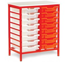 16 Slot Metal Frame Tray Storage Unit