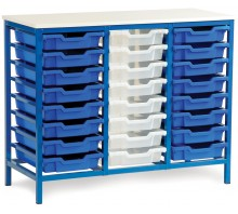 24 Slot Metal Frame Tray Storage Unit