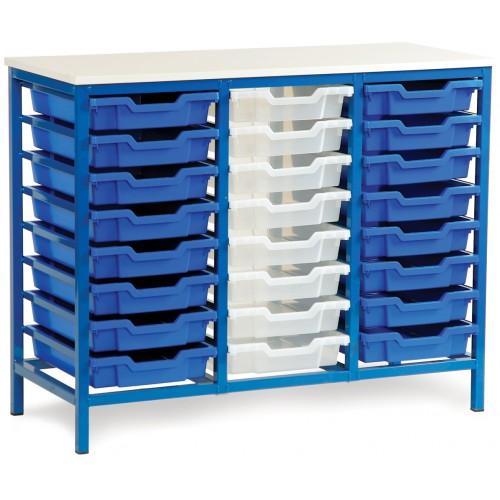 24 Slot Metal Frame Tray Storage Unit
