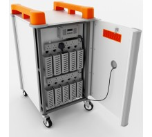 10 Bay Vertical Laptop Trolley