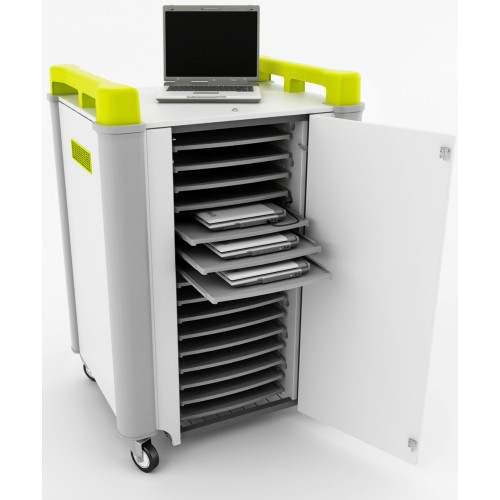 16 Bay Horizontal Laptop Trolley
