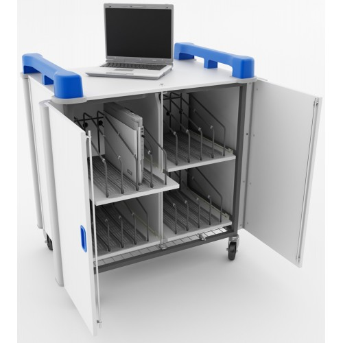 16 Bay Vertical Laptop Trolley