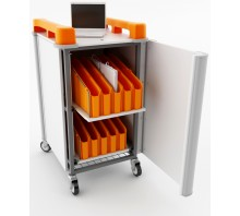 20 Bay Vertical Netbook Trolley