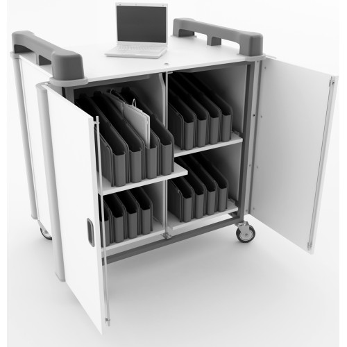 32 Bay Vertical Netbook Trolley