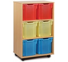 6 Extra Large Tray Shelf Storage Unit