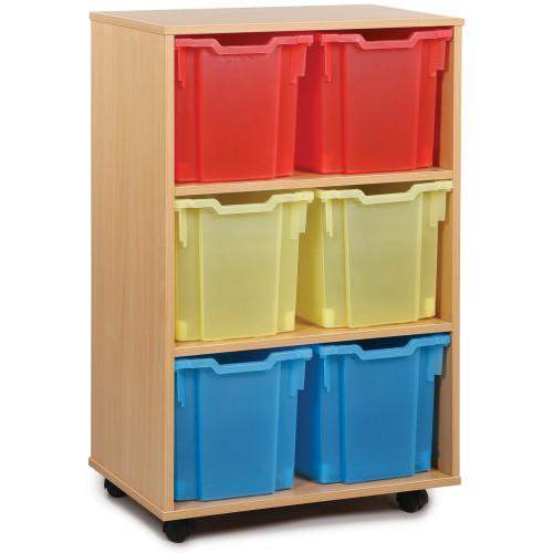 6 Extra Large Tray Shelf Storage Unit