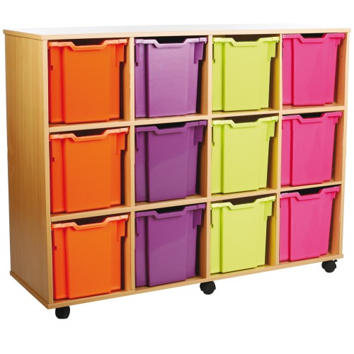 12 Extra Large Tray Shelf Storage Unit