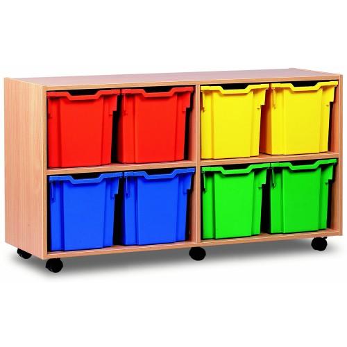 8 Extra Large Tray Shelf Storage Unit