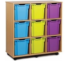 9 Extra Large Tray Shelf Storage Unit