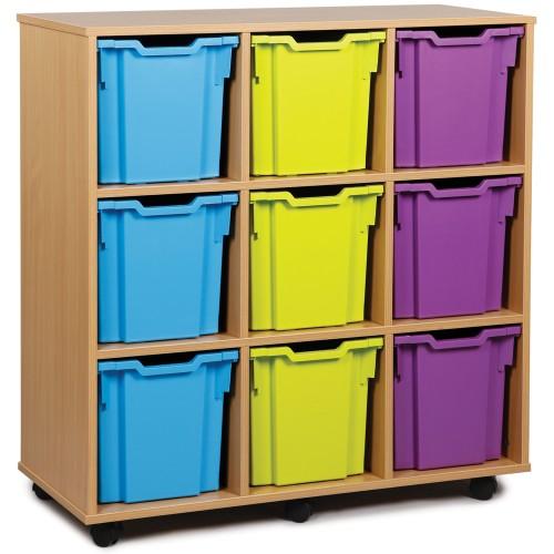 9 Extra Large Tray Shelf Storage Unit