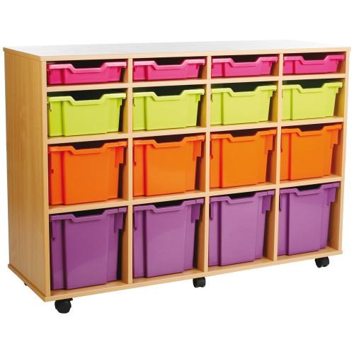 16 Variety Tray Shelf Storage Unit