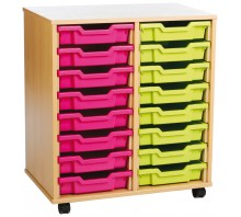 16 Slot Tray Storage Unit