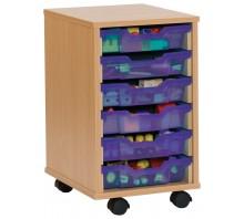 6 Slot Tray Storage Unit