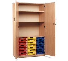 21 Slot Tray & Shelf Storage Cupboard