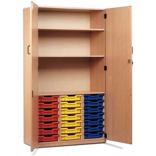 21 Slot Tray & Shelf Storage Cupboard