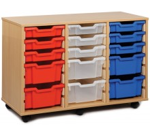 21 Slot Tray Storage Unit