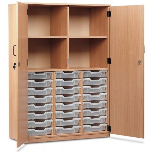 24 Slot Tray & Shelf Storage Cupboard