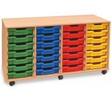 28 Slot Tray Storage Unit