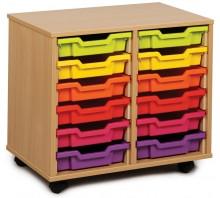 12 Slot Tray Storage Unit