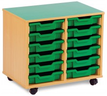 12 Slot Tray Storage Unit
