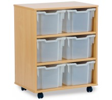 6 Large Tray Shelf Storage Unit