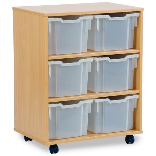 6 Large Tray Shelf Storage Unit