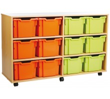 12 Large Tray Shelf Storage Unit