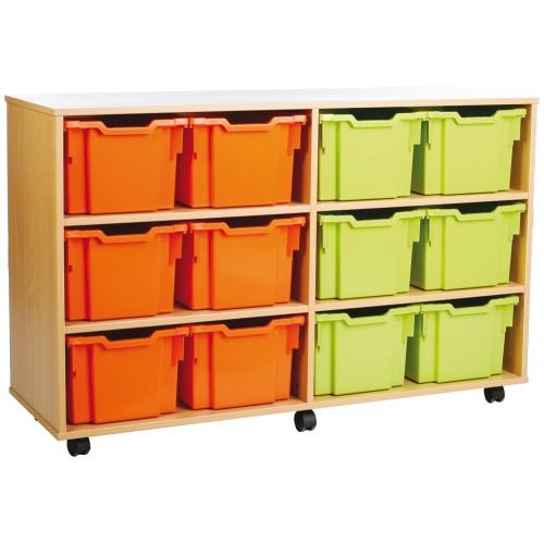 12 Large Tray Shelf Storage Unit