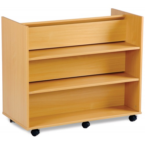 2 Sided 3 Angled & 3 Straight Shelf Library Unit