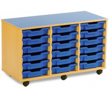 18 Slot Tray Storage Unit
