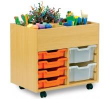 4 Bay Kinderbox with 8 Slot Tray Storage Unit