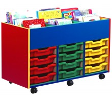 6 Bay Kinderbox with 12 Slot Tray Storage Unit