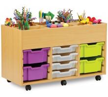 6 Bay Kinderbox with 12 Slot Tray Storage Unit