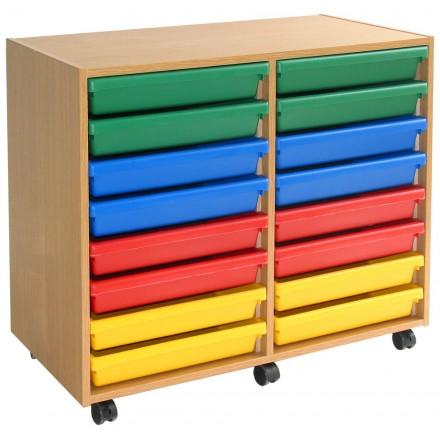 16 A3 Art Tray Storage Unit
