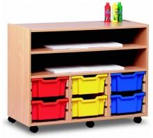12 Slot Tray & Shelf Storage Unit