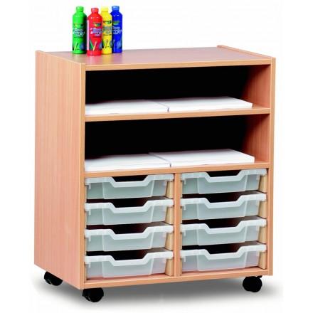 8 Slot Tray & Shelf Storage Unit