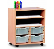8 Slot Tray & Shelf Storage Unit