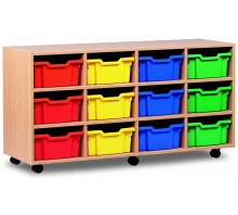 12 Medium Tray Shelf Storage Unit