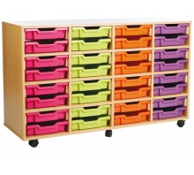 16 Medium Tray Shelf Storage Unit