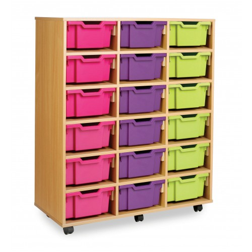 18 Medium Tray Shelf Storage Unit