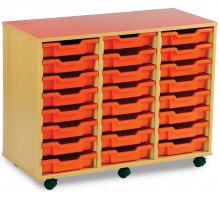 24 Slot Tray Storage Unit