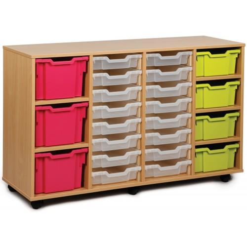 23 Variety Tray Shelf Storage Unit